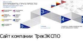 создание сайта Сайт компании ТрекЭКСПО
